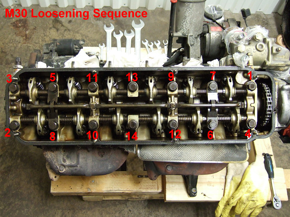Loosening Sequence For An M30 Engine